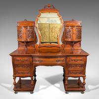 Fine Antique Dressing Table, English, Walnut - Gillow & Co, Victorian (2 of 12)