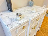 French Oak Sideboard / Buffet / Cupboard Topped in Statuario Marble (2 of 10)