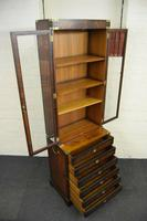 Quality Mahogany Campaign Bookcase on Chest (6 of 9)