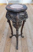 Tall 19th Century Chinese Marble Top Stand (2 of 4)