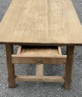 Large French Bleached Farmhouse Dining Table (14 of 26)