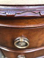 Antique Mahogany 3 Draw Bedside Chest (7 of 8)