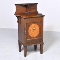 Inlaid Art Nouveau Bedside Cabinet