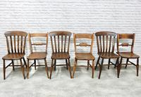 6 Windsor Kitchen Chairs, Assorted Styles (6 of 6)