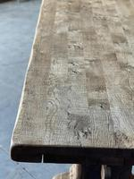 Superb Rustic Large Bleached Oak Farmhouse Table with Extensions (8 of 36)