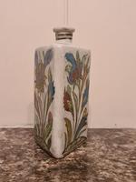 18th Century Antique Iznik Stoneware Vase Flask Bottle Persian Ottoman Islamic (11 of 12)