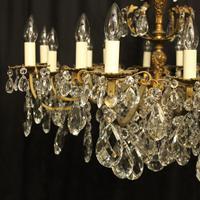 Italian Gilded Bronze 16 Light Antique Chandelier (10 of 10)