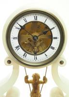 Rare Antique French Farcot Mantel Clock 8-Day Swinging Cherub Mantel Clock (3 of 11)