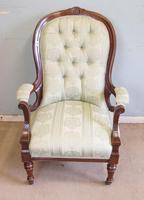 Antique Victorian Gentleman's Armchair (4 of 7)