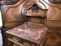 Antique French Stunning Huge Oak Bed Frame & Pot Cupboard (2 of 16)