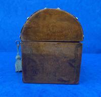 Victorian Brassbound Walnut Box c.1850 (5 of 10)