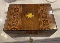 Victorian Mahogany Box with Tunbridge Ware Bands (15 of 15)