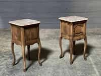 Pair of French Marble Top Bedside Cupboards (14 of 26)