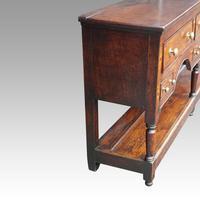 George III Oak Pot Board Dresser Base (5 of 13)