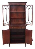 Georgian revival mahogany glazed bookcase on cupboard C1890 (9 of 12)