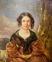 Victorian Oil Painting - Portrait of a Lady with Wringlets (2 of 9)