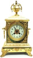 Fine French Ormolu Cubed Mantel Clock Classic 8 Day Striking Mantle Clock (8 of 10)