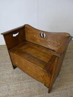 Liberty Arts & Crafts Oak Hall Bench (11 of 11)