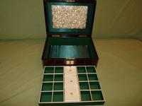 Brass Bound Rosewood Jewellery Box. Plush Interior c.1860 (8 of 11)