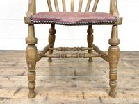 Early 20th Century Beech Smoker's Bow Chair (6 of 8)