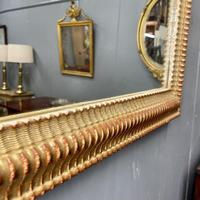 French Rippled Gilt Overmantle Mirror (3 of 8)