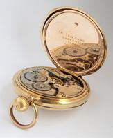 1930s Sun Dial Half Hunter Pocket Watch by Cyma (5 of 6)