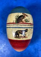 19th Century Skittles Game in Tunbridge Ware White Wood Painted Egg (20 of 21)