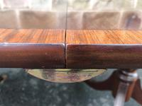 Antique Mahogany Twin Pillar Extending Dining Table (3 of 9)