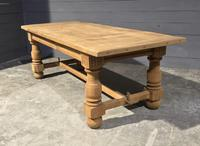 Large Refectory Bleached Oak Farmhouse Table (6 of 17)