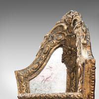 Antique Mirrored Corner Shelf, English, Gilt Gesso, Decorative Display, Regency (5 of 9)