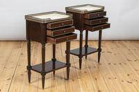 Pair of French Three Drawer Mahogany Bedside Cabinets (8 of 10)