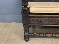 Good 19th Century Carved Oak Bench (12 of 15)