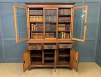 Victorian Carved Oak 3 Door Bookcase (18 of 23)