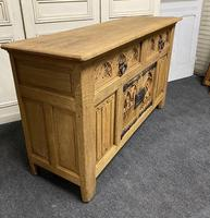 French Gothic Bleached Oak Sideboard (8 of 17)