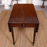 Georgian Pembroke Table Mahogany Extending Writing Modular Table (4 of 12)