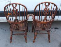 1940's Pair of Oak Country Farmhouse Chairs (3 of 5)