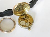 Gents 9ct Gold Colonial Wrist Watch, John Elkan (6 of 7)