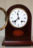 Mahogany Arch Top Mantel Clock (7 of 10)