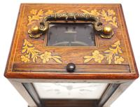 Fine French Officers 8-day Mantel Clock – Rosewood Case With Satinwood Inlay (13 of 13)