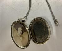 Antique Victorian Silver Pendant c.1870 (2 of 6)