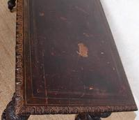 Carved Oak Desk Library Table Gothic Jacobean Large 19th Century (6 of 18)