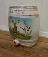 Large Painted Ceramic Scotch Whiskey Barrel, Stag at Bay (2 of 5)