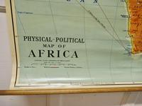 """Large University Chart """"Africa Physical Political""""  by Bacon (6 of 8)"""