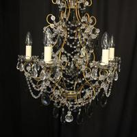 French Pair of Six Light Antique Chandeliers (3 of 10)