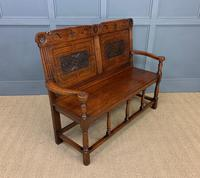 Late 19th Century Carved Oak Bench (9 of 12)