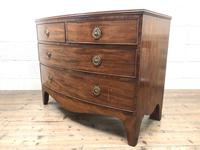 Georgian Mahogany Bow Front Chest of Drawers (5 of 10)