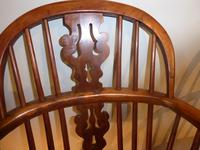 Matched Pair of Yew Windsor Chairs (5 of 13)