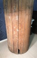 Pine Barrel Back Corner Cupboard in Original Paint (17 of 18)