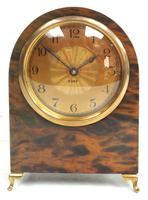 Antique Shell Mantel Clock Fine Arched Top Clock with Brass Dial 8-Day Timepiece Mantle Clock (9 of 9)