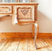 French Antique Style Dressing Table / Vanity Table with Mirror / Desk (4 of 5)